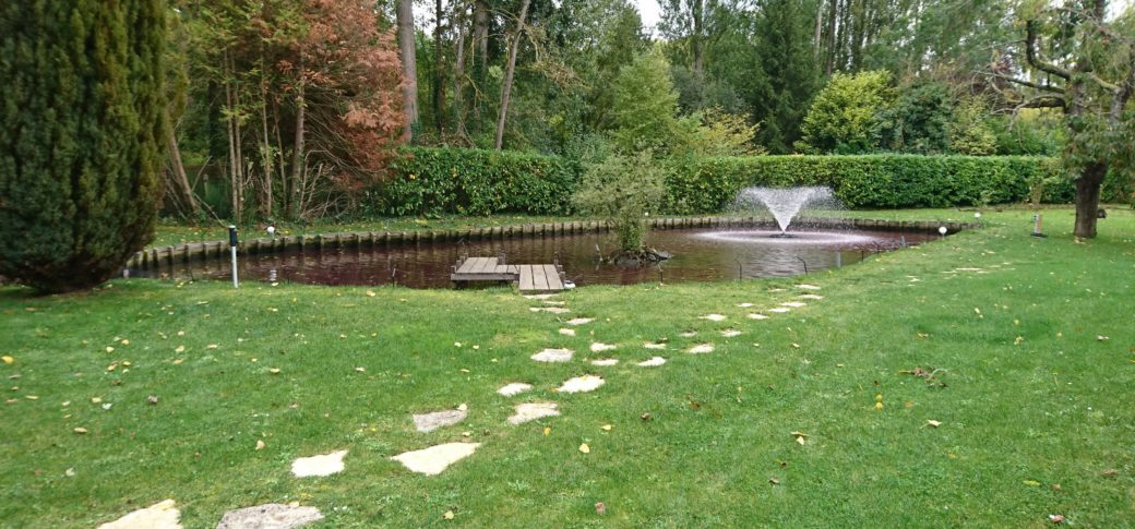 refection des berges d'étang, aménagement d'étang