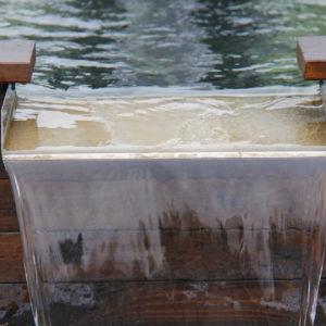 Lame d'eau inox 40cm