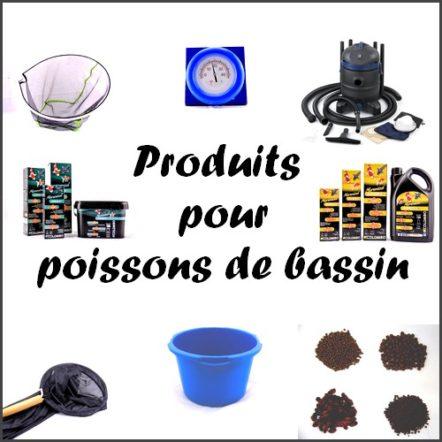 Produits pour poissons de bassin